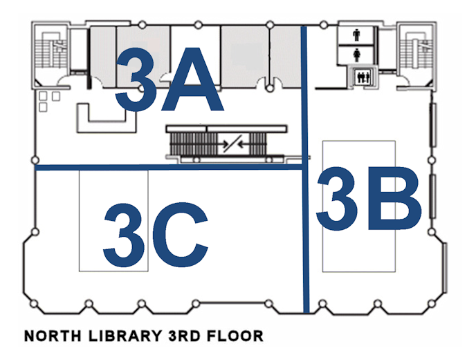 3rd floor quiet zone map