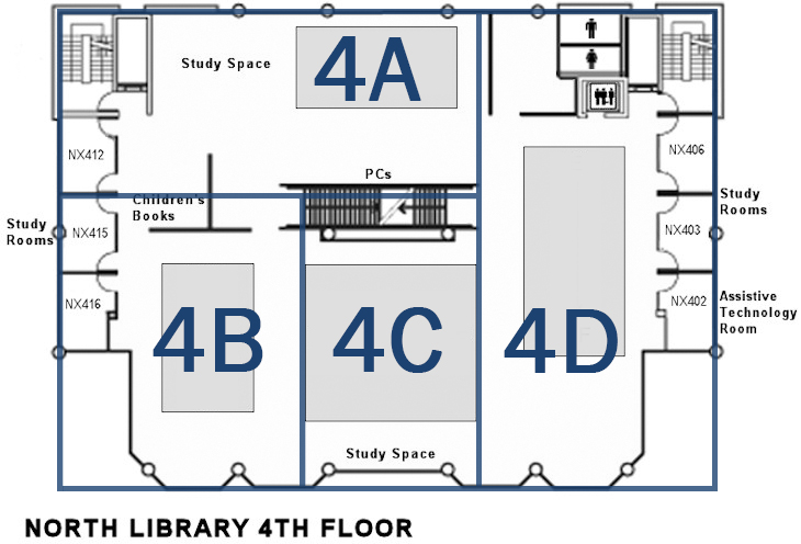 4th floor quiet zone map