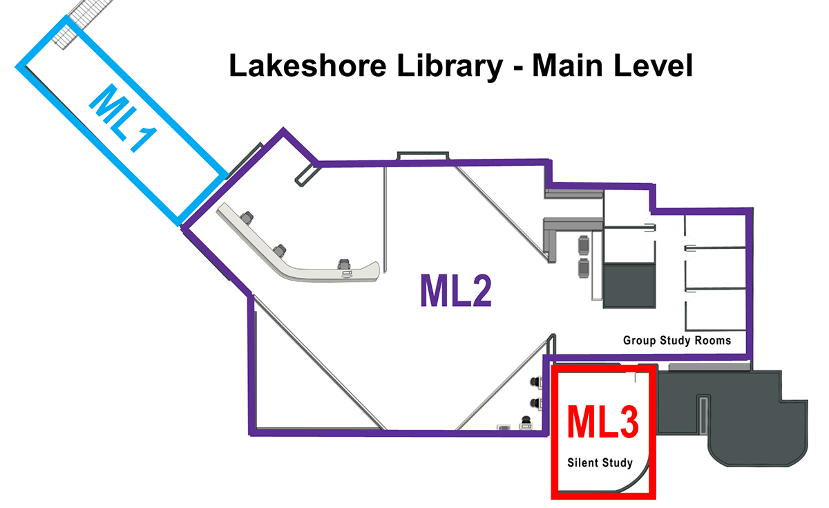 Lakeshore Main level Floor Map