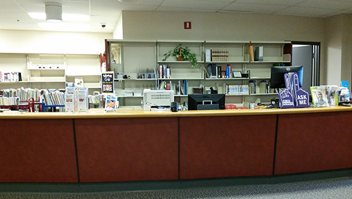 research desk at Orangeville